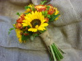 Sunflower bridal bouquet, Flowers By Becky