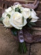 Ivory rose bridal bouquet, Flowers By Becky